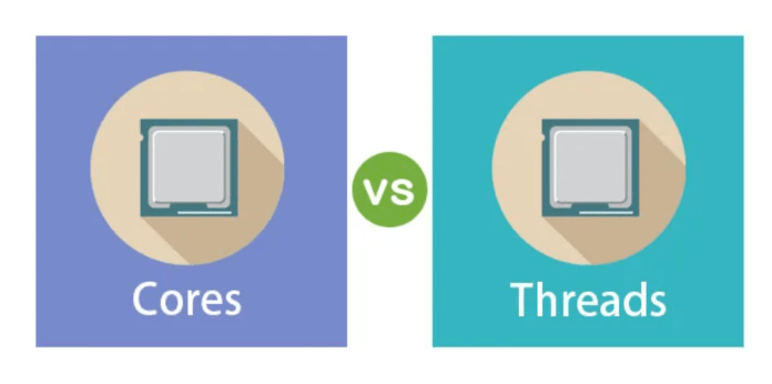 Difference Between Cores And Threads