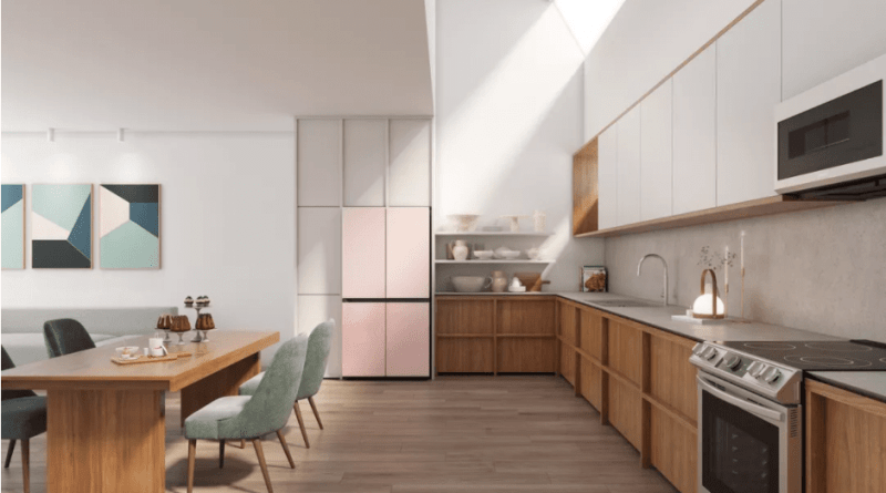 The New refrigerators of Samsung embrace the custom aesthetic trend