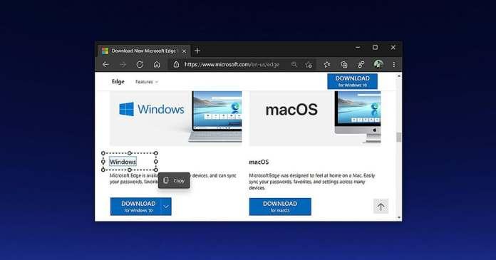13個Microsoft Edge瀏覽器功能 - 智能複製功能