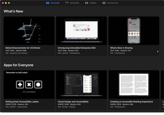 WWDC for Mac - 推薦模塊
