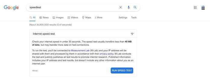 9個免費在線網路測速工具推薦 - Google搜尋speedtest