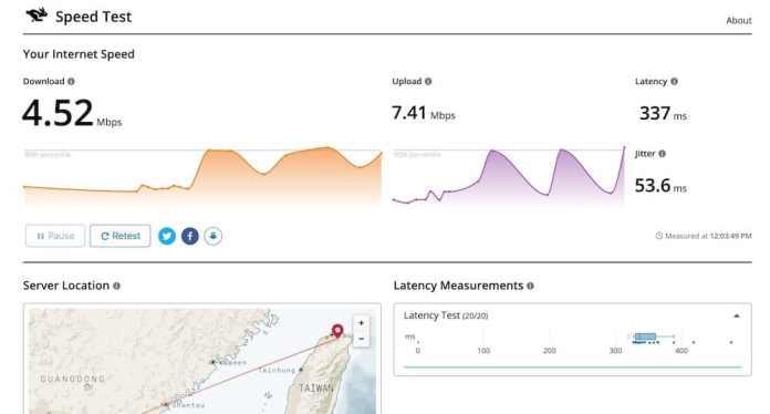 9個免費在線網路測速工具推薦 - cloudflare speed test