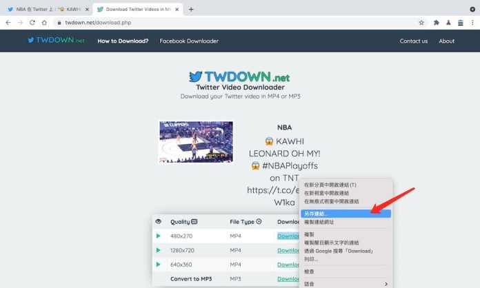 Twitter下載工具推薦 - twdown - 影片下載