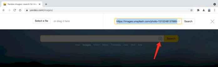Yandex以圖找圖功能教學 - 張貼圖片連結