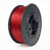 Filament PETG 1,75mm transparent rød