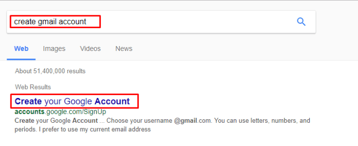 Create Gmail Account for apple id