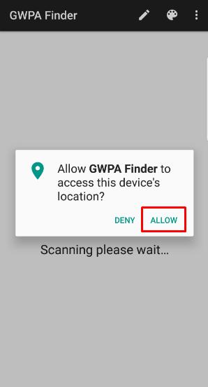 allow location