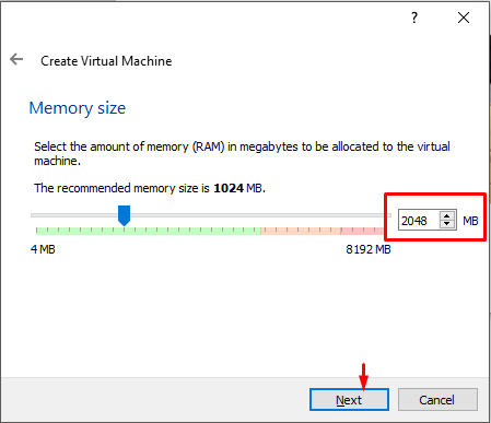 Choose Memory Size