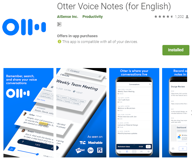 Otter Voice Notes App