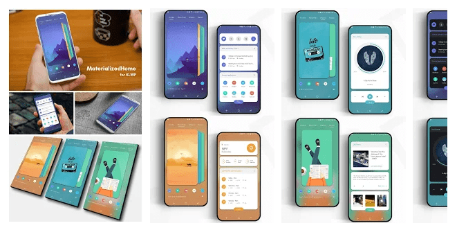 MaterializedHome for KLWP