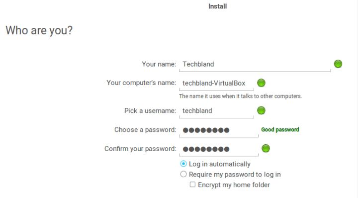 create user account in zorin