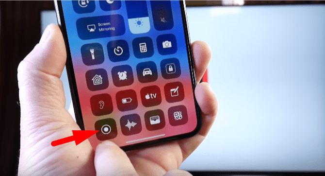 Go to control center and open screen recoder