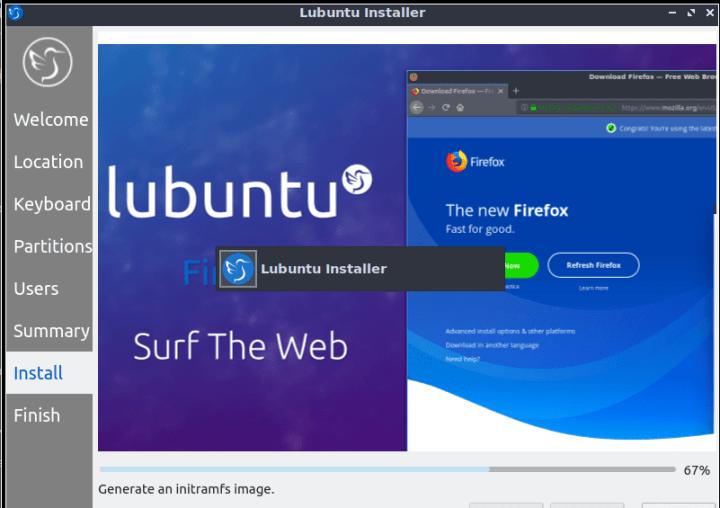 Lubuntu Installation Process