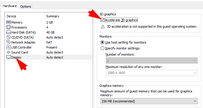 Customize the Display Setting