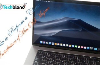how to perform a clean installation of macos mojave