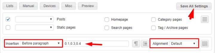 add adsense in feed ads to wordpress site