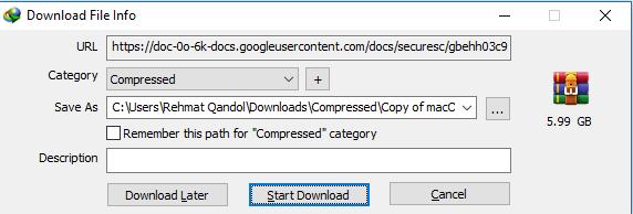 fix google drive download quota error