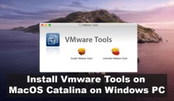 How to Install Vmware tools on MacOS Catalina on Windows PC