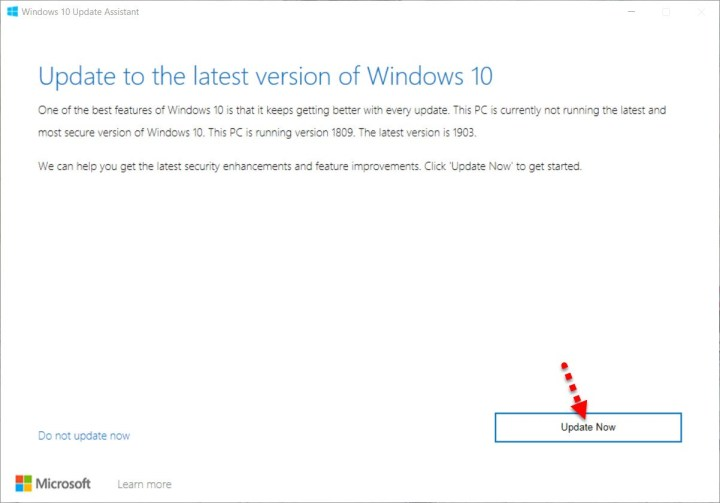 update now to windows new update