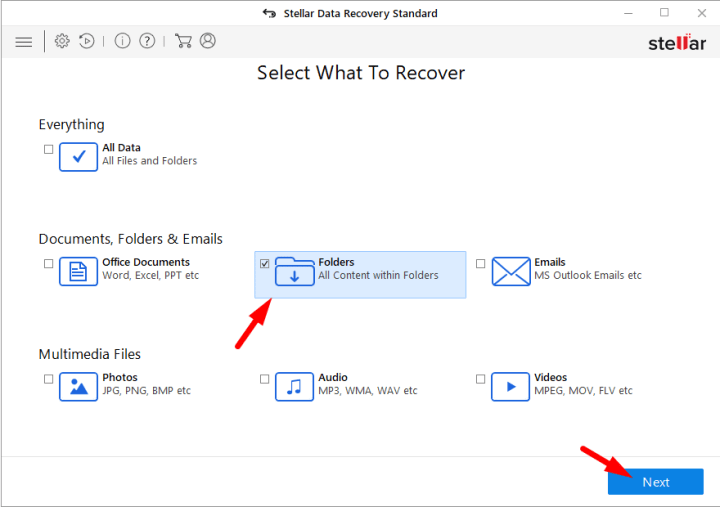 Select Files you want to Recover