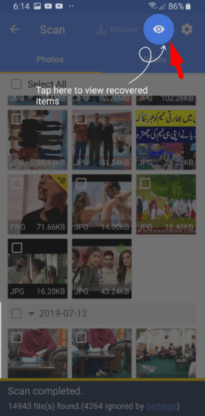 how to recover deleted photos from android gallery