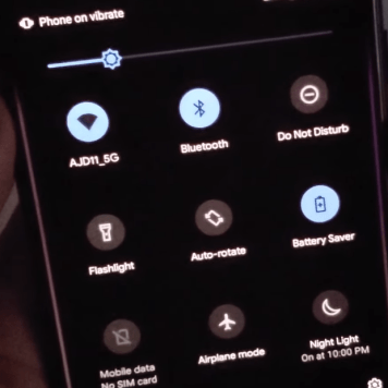 Android 10 Dark Mode Theme