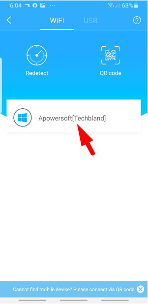 Connect Android with PC