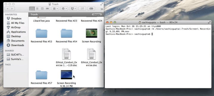 Delete a Single File from Trash on Mac
