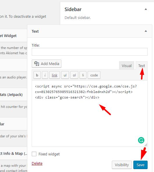 Create Google Custom Search Engine