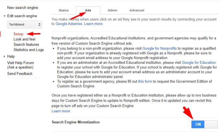 Setup the Google Custom Search Engine