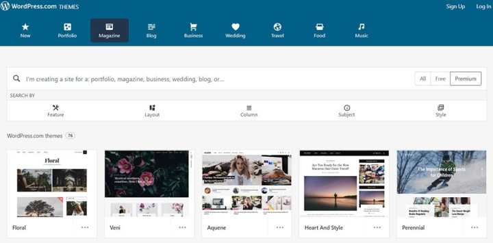 Wordpress Officail Theme for Bloggers