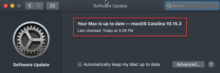 Update MacOS Catalina on VMware