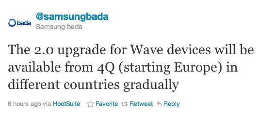 Samsung, Θα αναβαθμίσει όλα(;) τα μοντέλα Wave στην έκδοση Bada 2.0