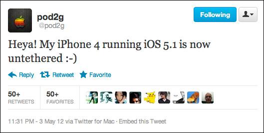 iPhone 4 με iOS 5.1, Ετοιμάζεται το untethered jailbreak