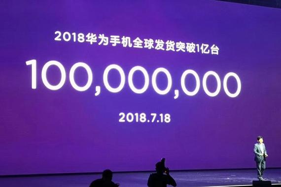 huawei 100 mil shipments