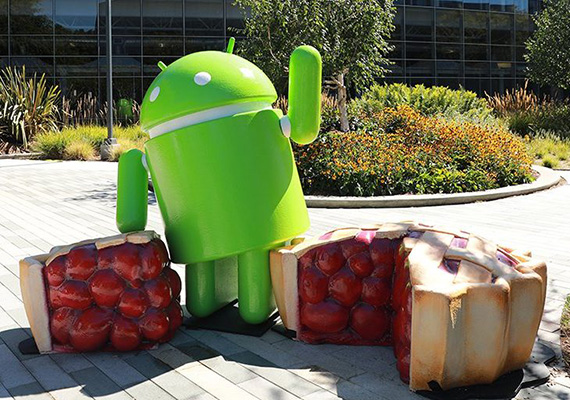 androidpie statue