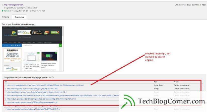Javascript-blocked-google-webmaster-tool