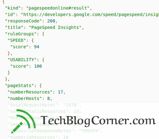 pagespeed-insights-api-google-techblogcorner