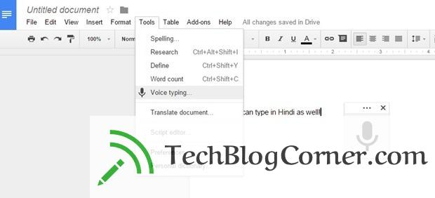 Google-Voice-Typing-techblogcorner