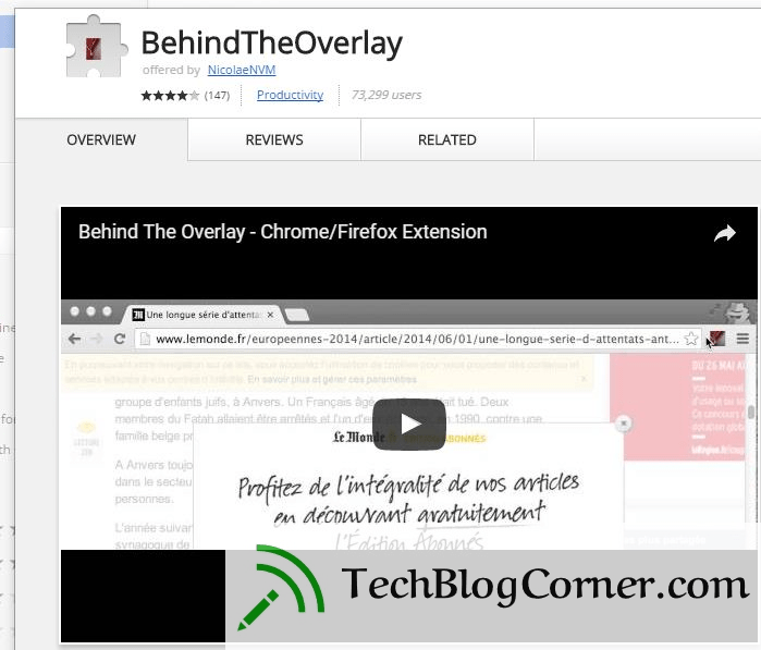 behind the overlay - techblogcorner