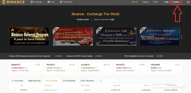 Binance Signup