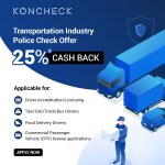 25% OFF on Transportation Industry Police Check Application