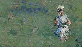 Spring in Vethuil by Claude Monet (Museum Boijmans Van Beuningen) [DETAIL]