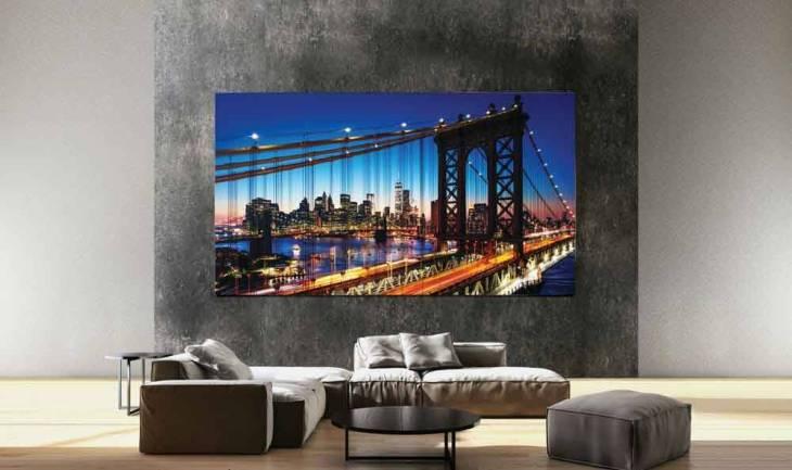 Samsung lança TV 8K de 292 polegadas, a maior TV do mundo