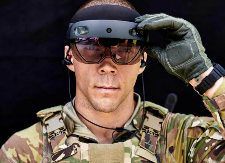 """Óculos de """"realidade mista"""" dão a soldados do exército dos EUA uma super visão"""