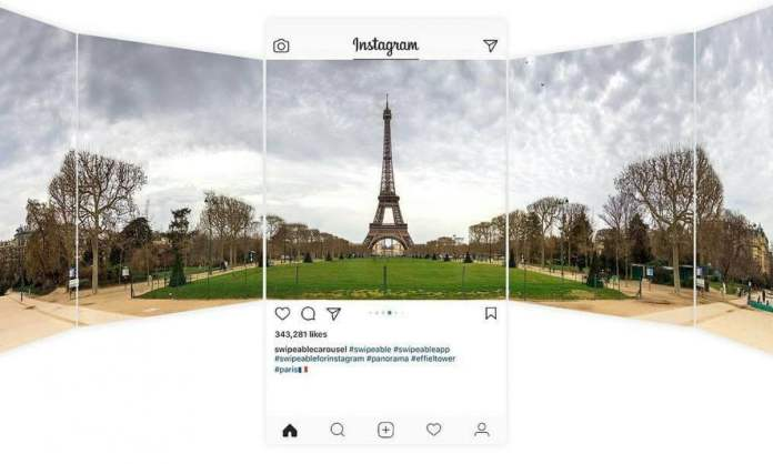 How to post panorama photos on Instagram?