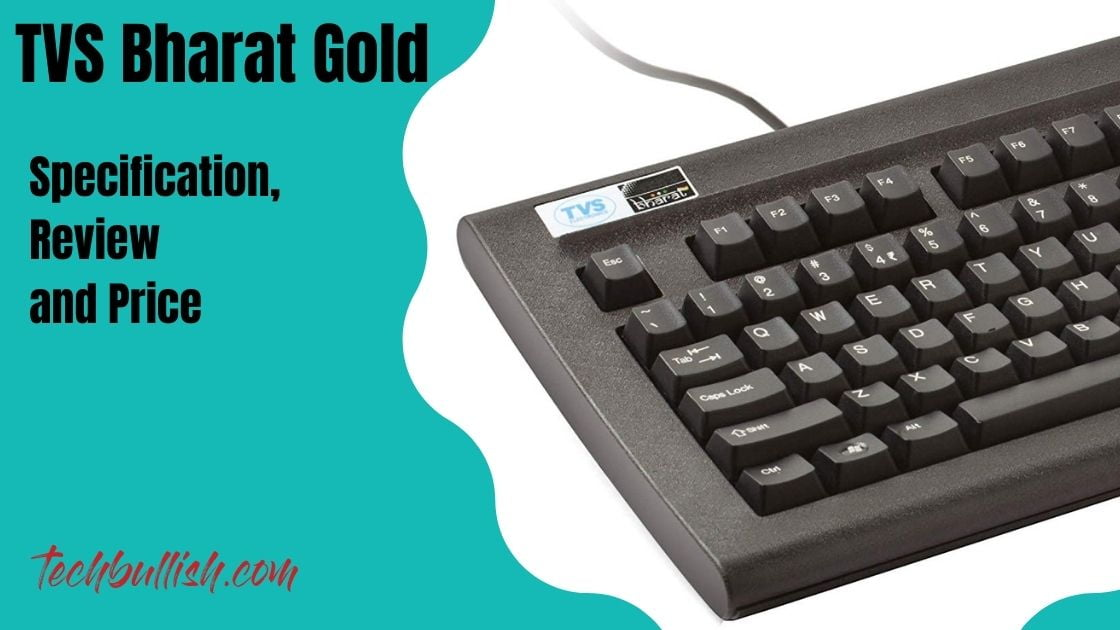 TVS Bharat Gold wired USB keyboard