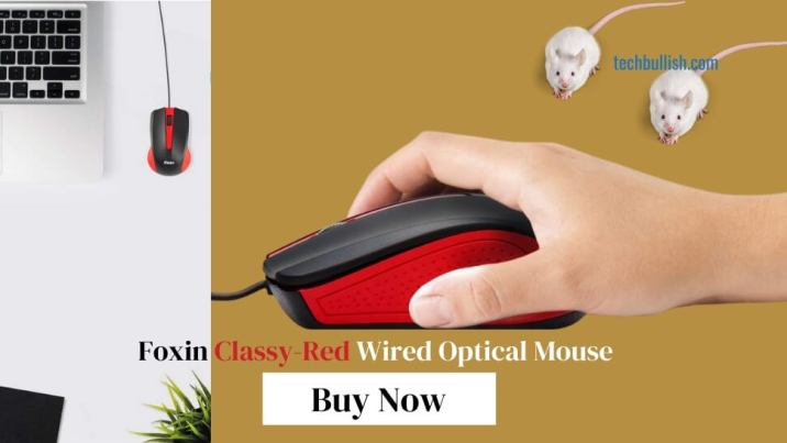 Foxin-Classy-Red-Wired-Optical-Mouse-Red