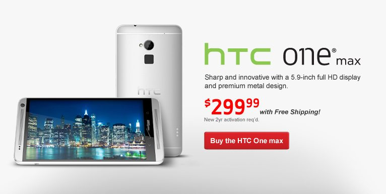 HTC One Max Now Available At Verizon Wireless