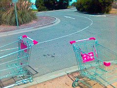 two shopping trolleys an example of the imager...